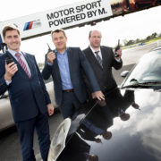 Pictured from left to right are: Roddy Greene, general manager, Mondello Park, Mark Quinn, managing director, EMR and Dean Reardon, sales executive, EMR