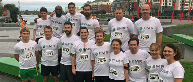 Pictured at the Grant Thornton 5K challenge are the team from EMR