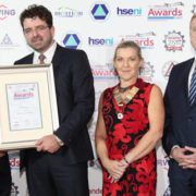 Pictured on the left above accepting the award on behalf of EMR is Colm Farrell, Field Engineer and Safety Representative with EMR