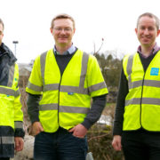 Pictured left to right are: Mark Quinn, managing director, EMR, Paul McMahon, executive engineer, Leitrim County Council and John McElwaine, capital programs regional lead, Irish Water
