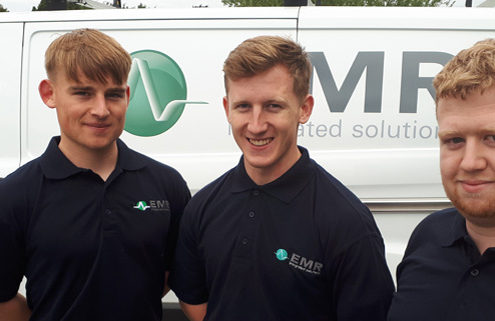 Pictured left to right above are: Darragh Quinn, Dean Glynn and Sam Flanagan, all participating in the Learn and Work Scheme