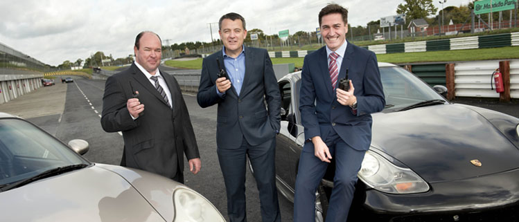 Pictured from left to right are: Dean Reardon, sales executive, EMR, Mark Quinn, managing director, EMR and Roddy Greene, general manager, Mondello Park