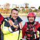LtoR: Jason Clarke, PRO, Boyne Fishermen's Rescue & Recovery, Mark Quinn, managing director, EMR Integrated Solutions and Eugene Brannigan, volunteer, Boyne Fishermen's Rescue & Recovery