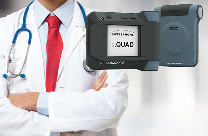 EMR works with market leading manufacturer Swissphone to provide paging solutions for healthcare
